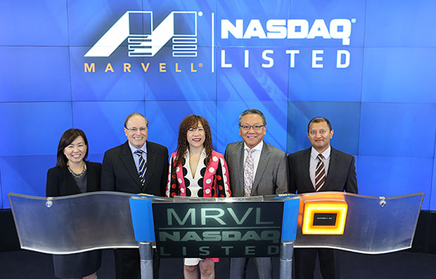 Marvell Executive Team Rings NASDAQ Bell